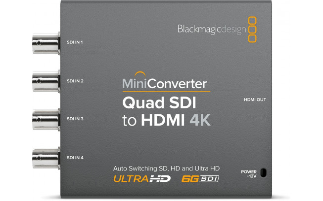 Blackmagic Mini Converter - Quad SDI to HDMI 4K 2-1